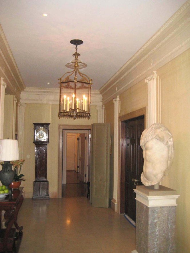 The Sculpture In Entry Foyer Are Highlighted From Above With Discreet Recessed Accent Lights